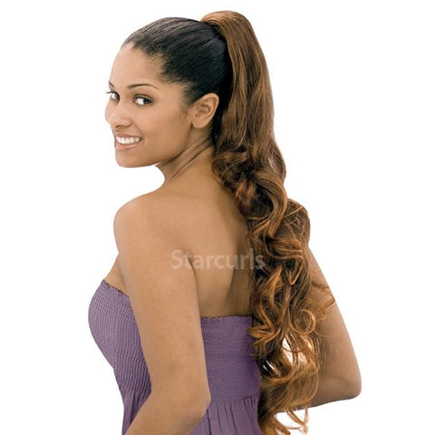 "ORIGINAL PONYTAIL DRAW STRING - V SHAPE- STRAIGHT 28"" - SAMBA152"