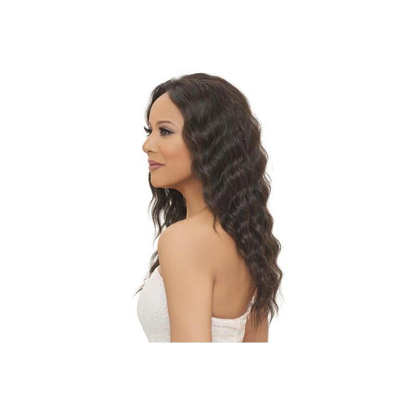 100% Brazilian Natural Remy Hair Lace Wig 24 INCH (BL002) - (VIRGIN Natural Black) - STARCURLS.COM
