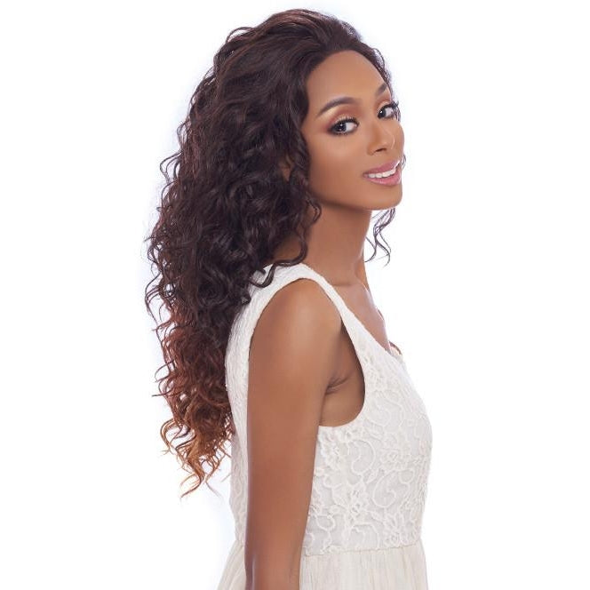 4x4 MULTI PARTING LACE WIG, SWISS SILK BASE LACE NATURAL WAVY CURL  (FLS02) - STARCURLS.COM