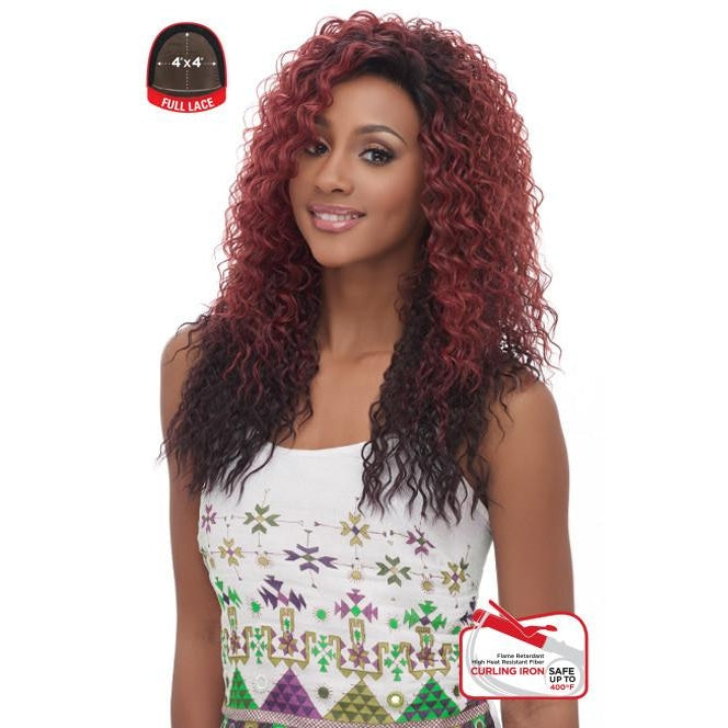 4x4 MULTI PARTING LACE WIG, SWISS SILK BASE LACE NATURAL LOOSE WAVY CURL  (FLS05) - STARCURLS.COM