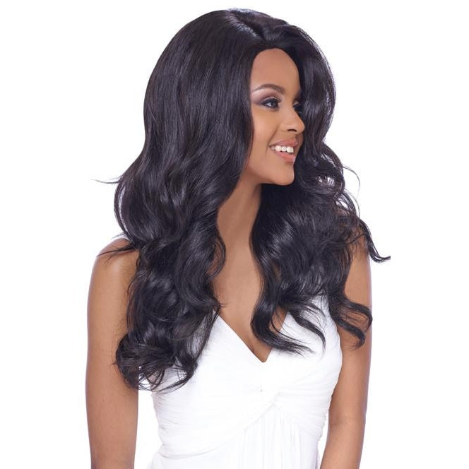 4x4 MULTI PARTING LACE WIG, SWISS SILK BASE LACE NATURAL LOOSE WAVY (FLS06) - STARCURLS.COM