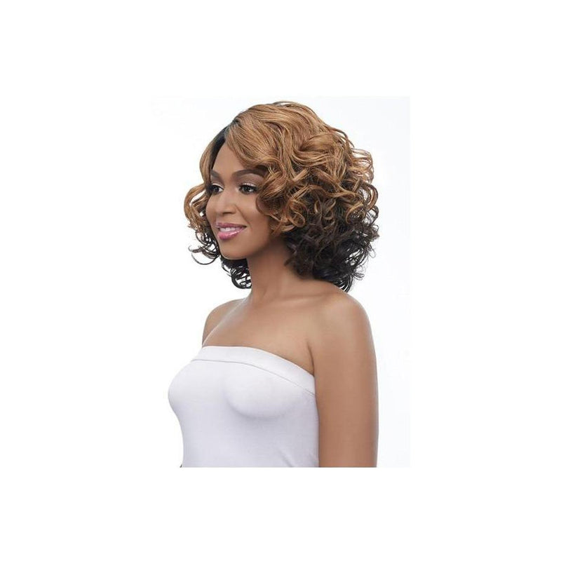 LACE FRONT SHORT CURLY WIG , BANANA SHAPE PART (LBP08) - STARCURLS.COM