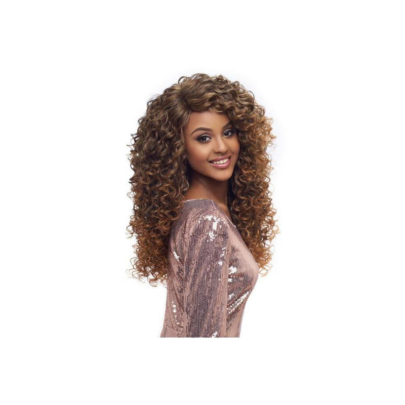 "LACE FRONT WIG, SWISS DEEP PART LACE CURLY 20""  (LSD04) - STARCURLS.COM"