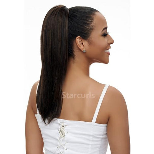 "STRAIGHT HAIR 18"" - ORIGINAL PONYTAIL DRAW STRING - SAMBA140 - STARCURLS.COM"