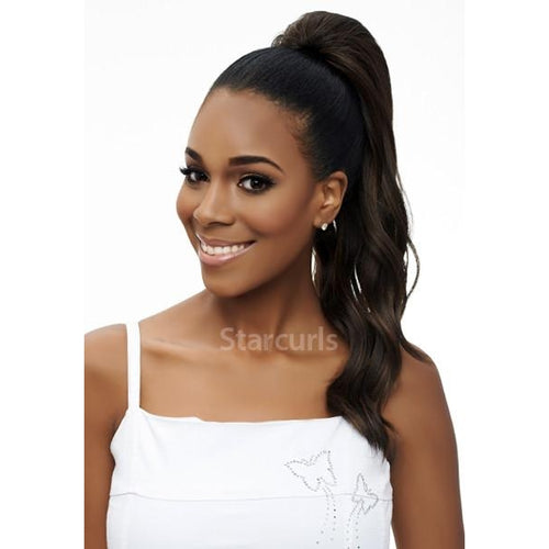 "ORIGINAL PONYTAIL DRAW STRING - LOOSE DEEP WAVE 18"" - SAMBA142 - STARCURLS.COM"