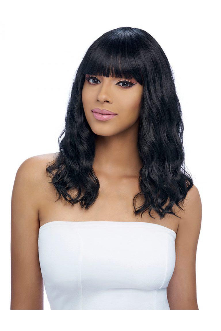 GO GO COLLECTION, FASHION WIG WITH BANG  (GO118) - STARCURLS.COM