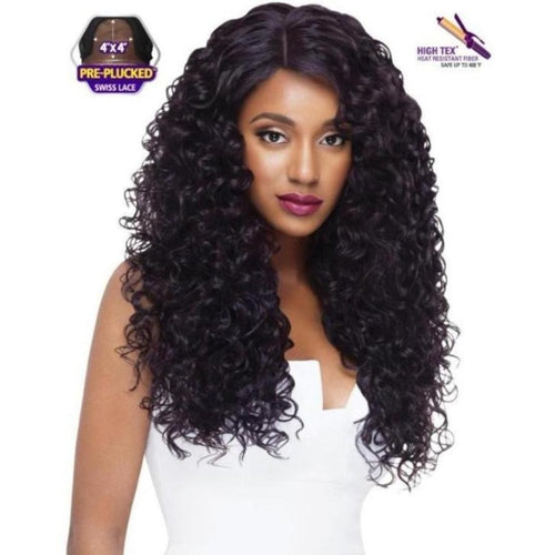 "SWISS X LACE FRONT FULL WIG - AMBER 26"" LONG NATURAL CURLY - STARCURLS.COM"