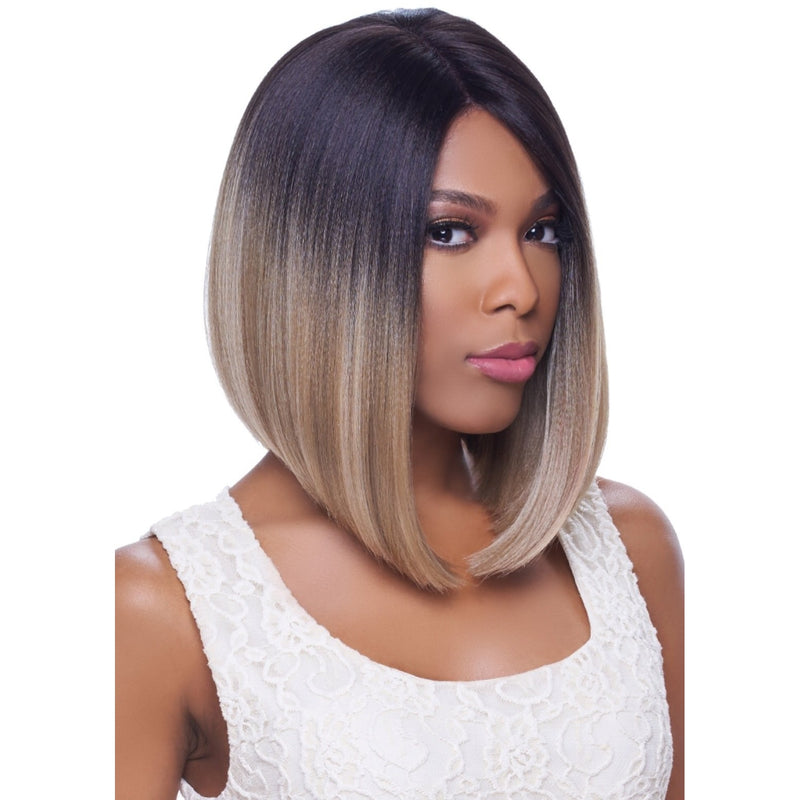 4X4 MULTI PARTING LACE WIG, SILK BASE, SHORT STRAIGHT - LEXY713 - STARCURLS.COM