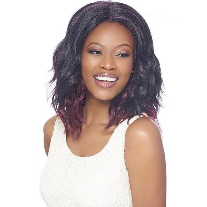 4X4 MULTI PARTING LACE WIG, SILK BASE, SHORT WAVY - FLS15 - STARCURLS.COM