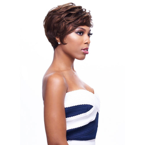 100% HUMAN HAIR WIG , PIXIE HAIR STYLE - GO GO MASTER WIG - (GM908) - STARCURLS.COM