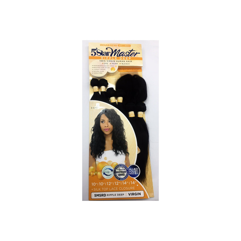 "100% VIRGIN HUMAN HAIR WEAVE (5MSRD) - RIPPLE DEEP 10"" 12"" 14"" COLOR VIRGIN - 7 PIECE IN ONE PACK - STARCURLS.COM"