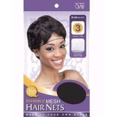 QFITT INVISIBLE MESH HAIR NETS (505B) - STARCURLS.COM