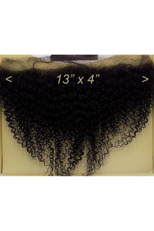 "100% HUMAN HAIR- SWISS FULL LACE 13"" x 4"" CLOSURE - JERRY CURL 12"" - STARCURLS.COM"