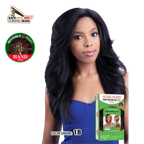MODEL MODEL - DEEP INVISIBLE L-PART, HAND TIED PART WIG - JINNI - STARCURLS.COM