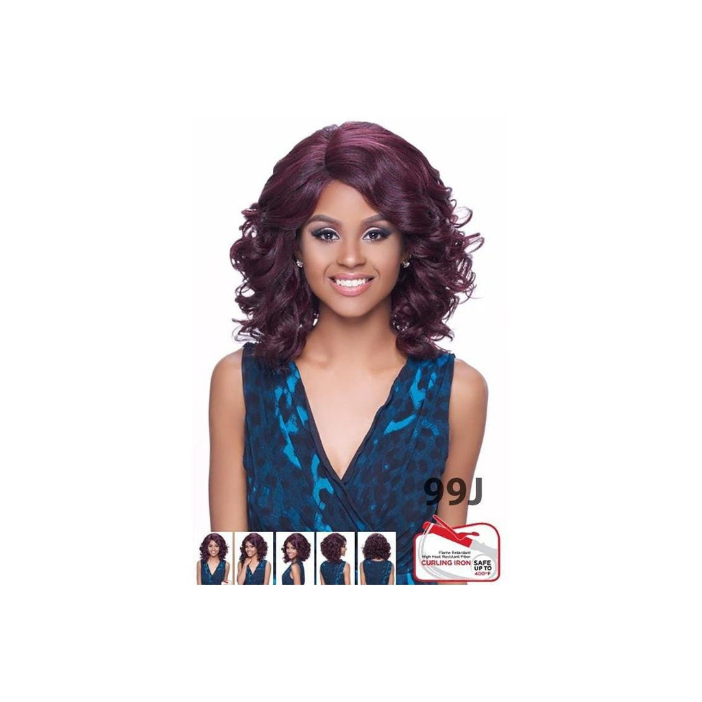 Kima Lace Wig Synthetic Hair Wig Ocean Wave Short Klw01