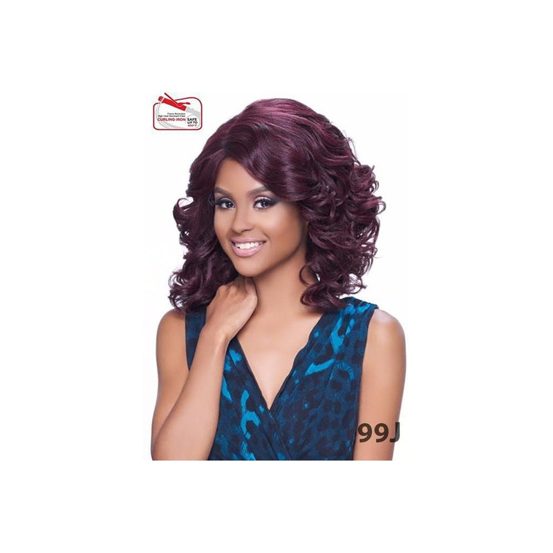 KIMA LACE WIG (SYNTHETIC HAIR WIG)  -  OCEAN WAVE SHORT  - KLW01 - STARCURLS.COM