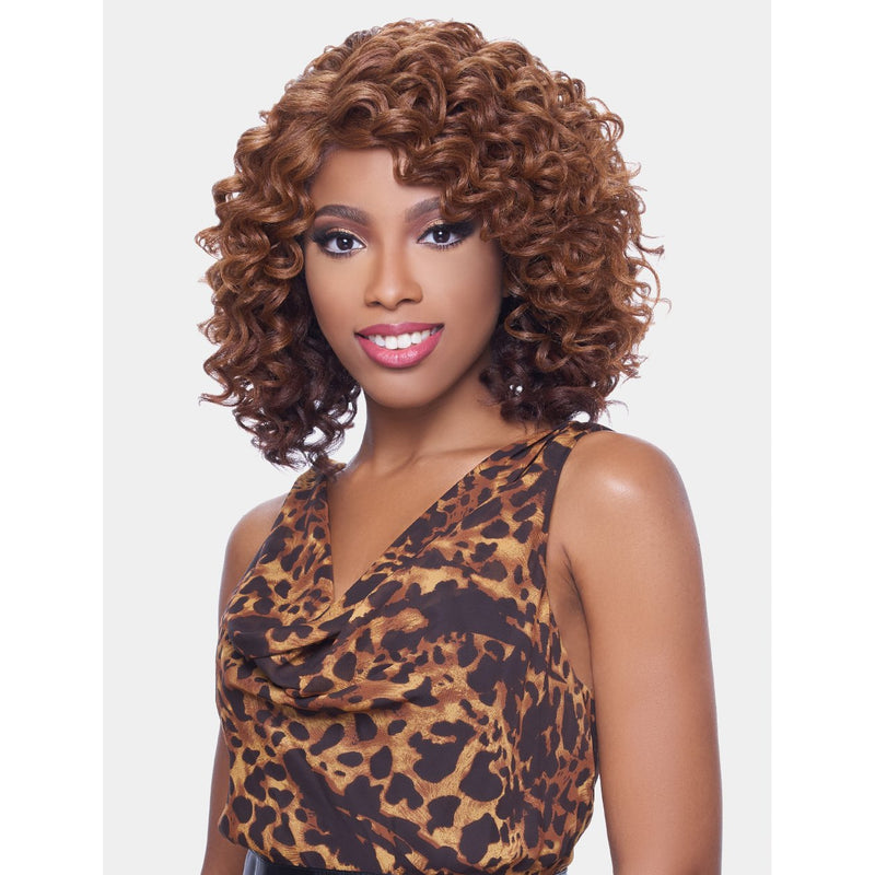 KIMA LACE WIG (SYNTHETIC HAIR WIG)  -  RIPPLE DEEP SHORT  - KLW03 - STARCURLS.COM