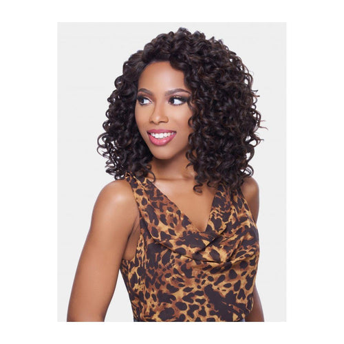 KIMA LACE FRONT WIG -  RIPPLE DEEP MEDIUM SYNTHETIC HAIR WIG (KLW04) - STARCURLS.COM