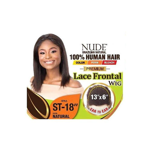 "100% HUMAN HAIR, NUDE PREMIUM 13X6 LACE FRONT WIG STRAIGHT 18 INCH"" - LAR53 - STARCURLS.COM"