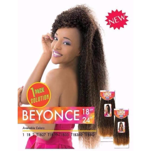 "SYNTHETIC HAIR WEAVE -  BEYONCE 18"" ( SUPREME LINDA COLLECTION ) - STARCURLS.COM"