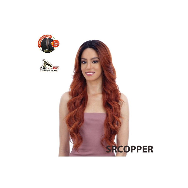 MODEL MODEL - LACE FRONT, 6 INCH DEEP CENTER PART - LOTTIE - STARCURLS.COM