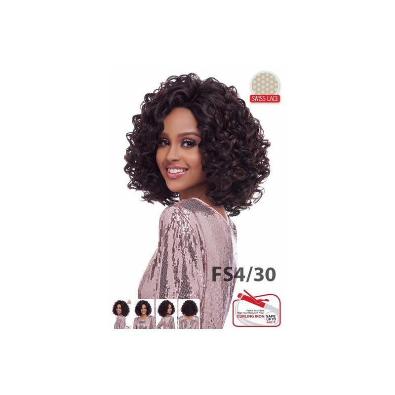 LACE FRONT WIG WITH SWISS LACE , DEEP PART SHORT COLLECTION  (LSD72) - STARCURLS.COM