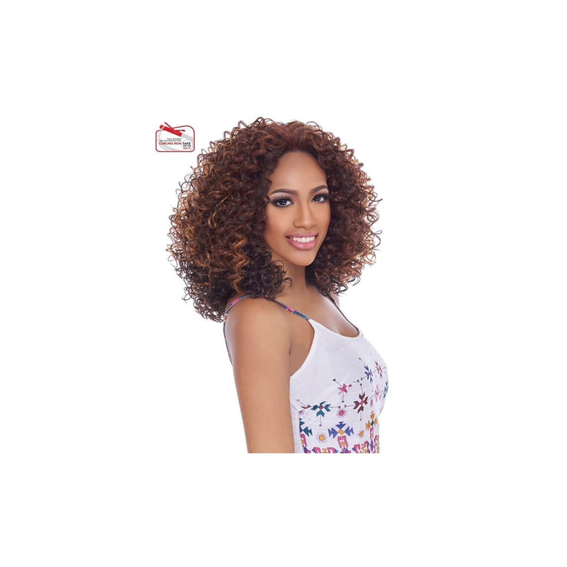 LACE FRONT MEDIUM CURL WIG, SWISS MELLOW BASE - LSM09 - STARCURLS.COM