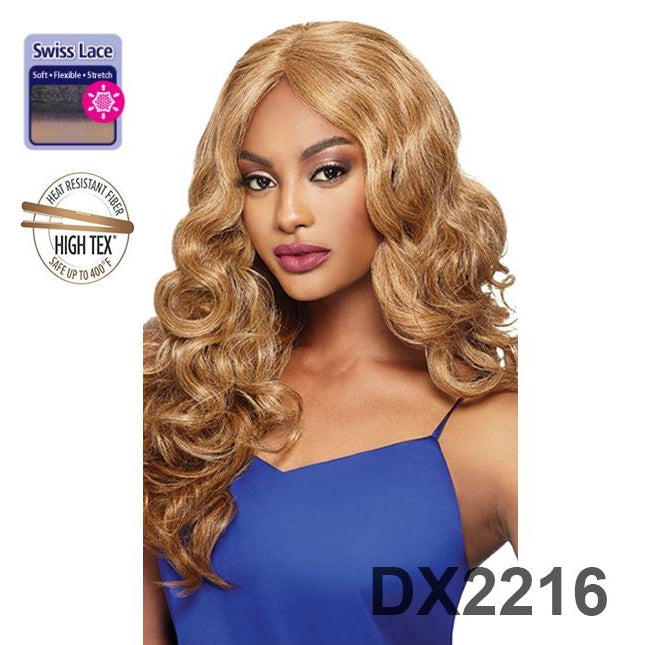 OUTRE SWISS LACE FRONT I - PART WIG - VOLUMINOUS CURLY - MADISON - STARCURLS.COM