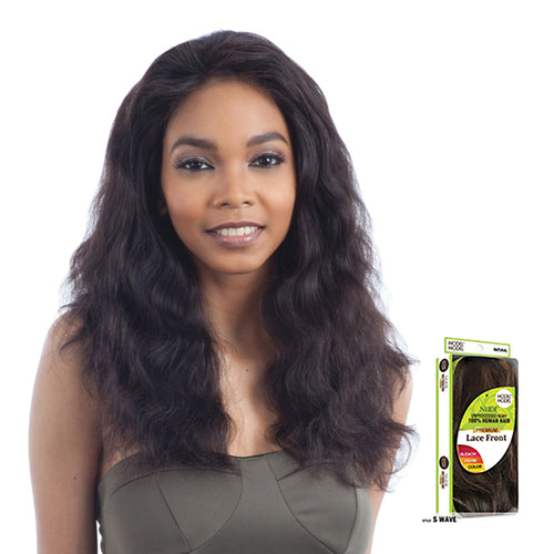 MODEL MODEL NUDE UNPROCESSED REMY 100% BRAZILIAN HUMAN HAIR LACE FRONT WIG S-WAVE - STARCURLS.COM