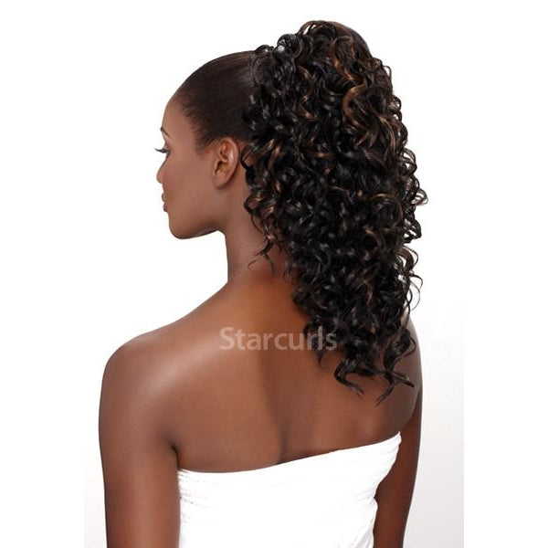 DEEP WAVE STYLE - ORIGINAL PONYTAIL DRAW STRING  - SAMBA121 - STARCURLS.COM