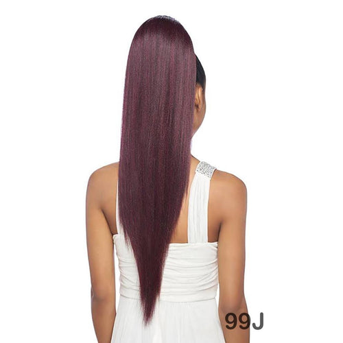 "ORIGINAL PONYTAIL DRAW STRING - V SHAPE- STRAIGHT 28"" - SAMBA152 - STARCURLS.COM"