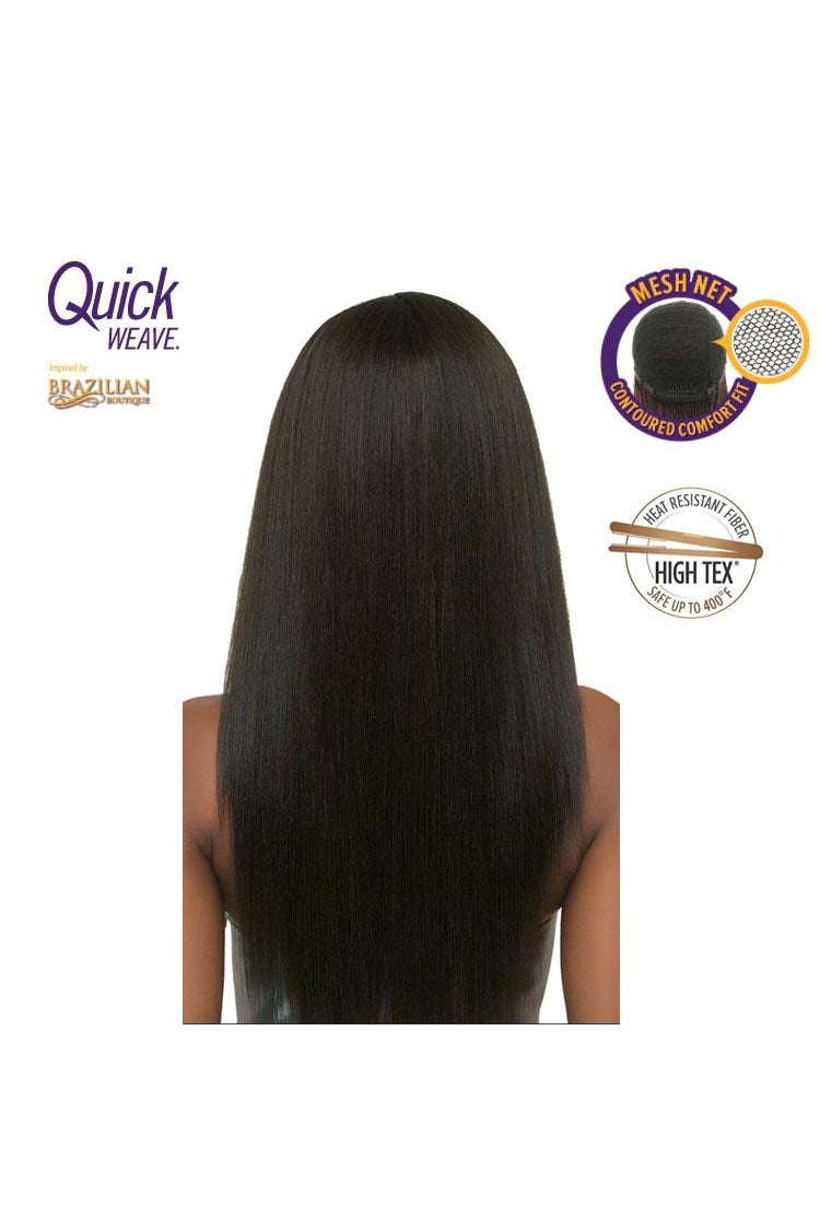 QUICK WEAVE HALF WIG - LONG STRAIGHT - BRAZILIAN BOUTIQUE - VOLUME PRESSED - STARCURLS.COM