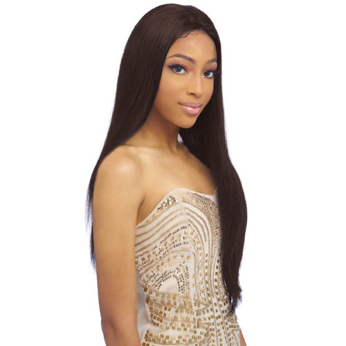 13x4 UHD 100% Brazilian Remy Hair Lace Wig, 28 inch straight  (BL018)