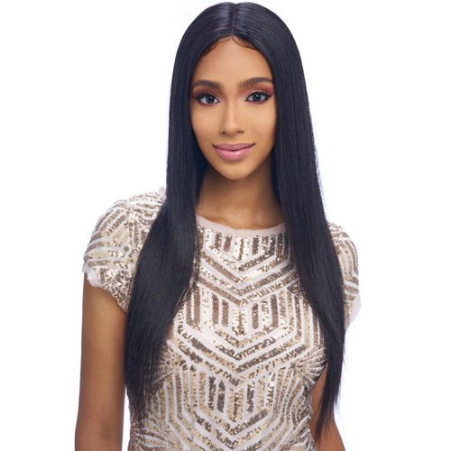100% Brazilian Natural Remy Hair 13x4 UHD Lace Wig (BL019) STRAIGHT 26 inch -  (VIRGIN Natural Black) - STARCURLS.COM