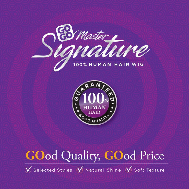 100% HUMAN HAIR WIG GO GO MASTER SIGNATURE - BANG STRAIGHT (GS901) - STARCURLS.COM