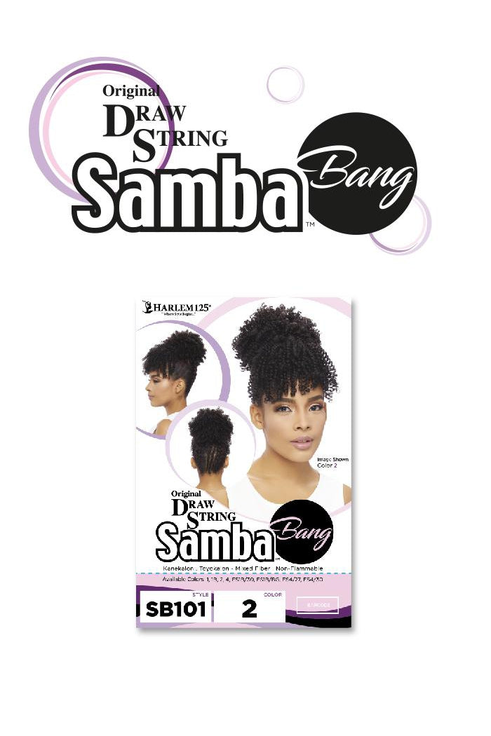 SAMBA BANG CURLY PONYTAIL DRAW STRING  (SB101) - STARCURLS.COM