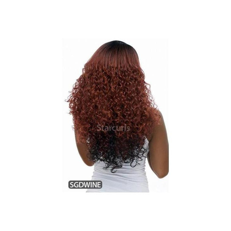 LACE FRONT LONG LOOSE CURL WIG , BANANA SHAPE PART  (LBP22) - STARCURLS.COM