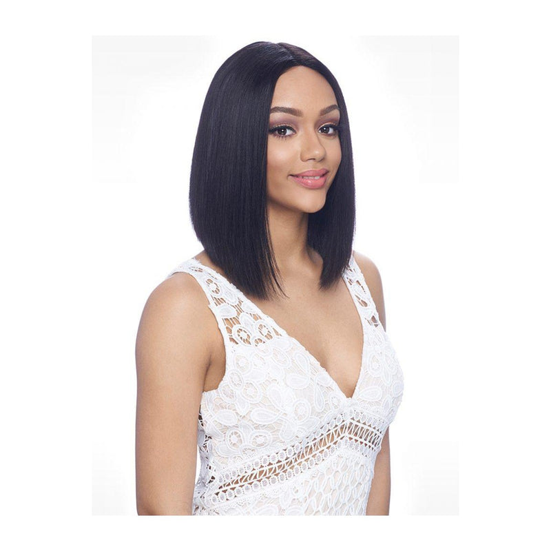 "100% Brazilian Natural Remy Hair Lace Wig  - BLUNT CUT 12"" (BL007) - STARCURLS.COM"
