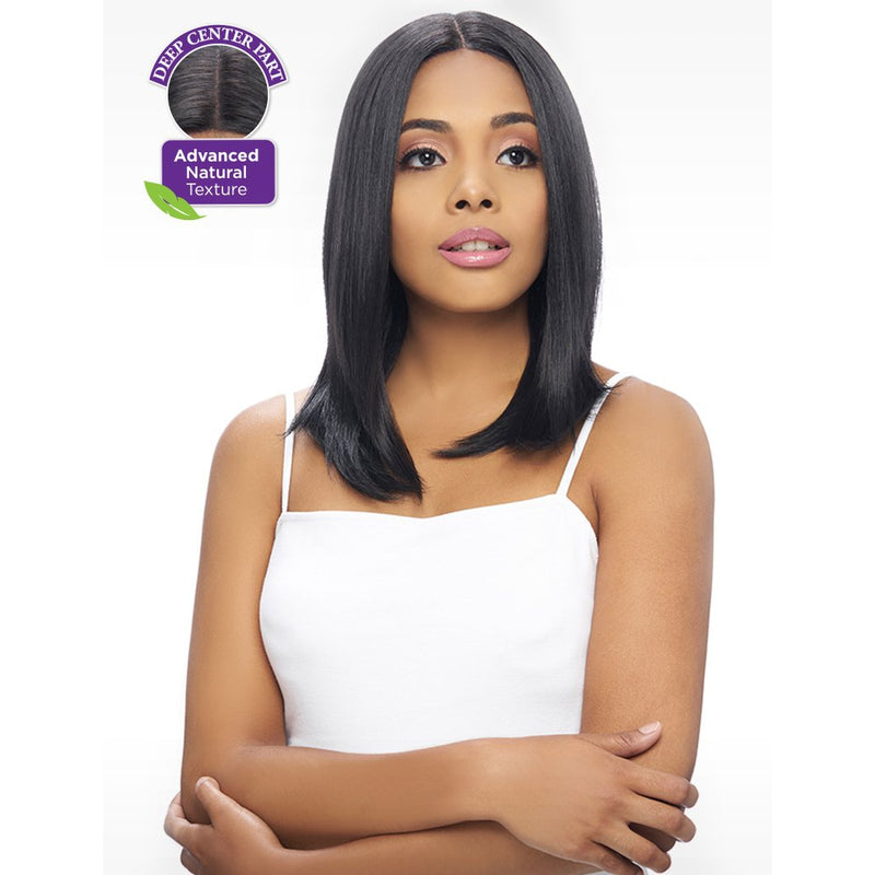 KIMA LACE WIG - 6 INCH DEEP CENTER PART SHORT  STRAIGHT WIG (KLW20) - STARCURLS.COM