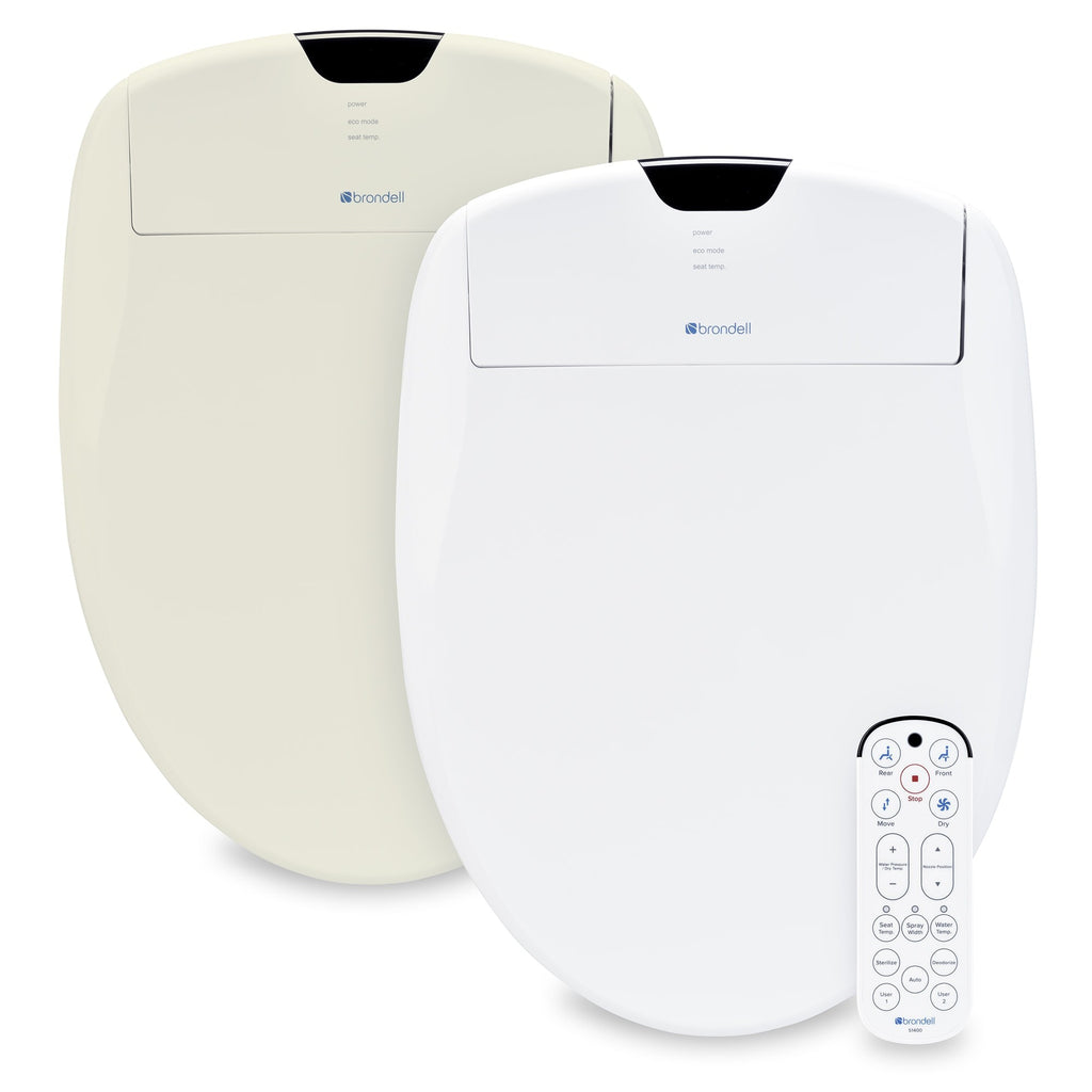 Brondell Swash 1400 Luxury Bidet Toilet Seat - White Almond Biscuit Beige Colors - IN STOCK READY TO SHIP