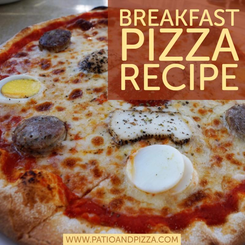 Breakfast Pizza Recipe - Bacon, Egg, Cheese, and Pepper