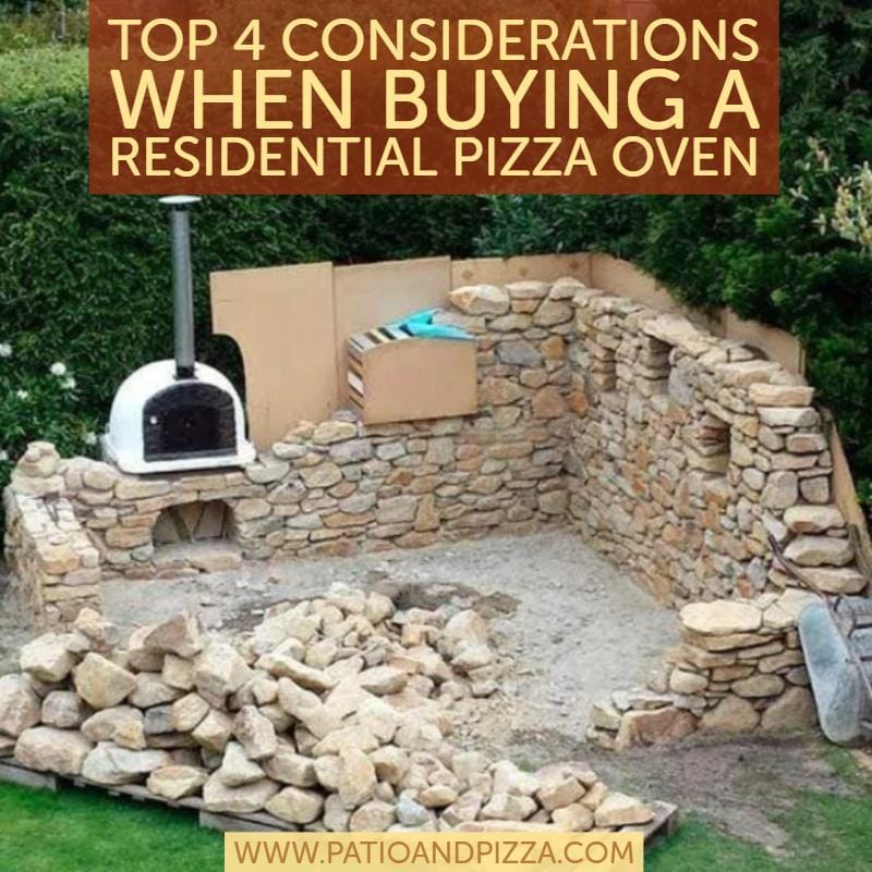 Top 4 Considerations When Buying a Residential Pizza Oven