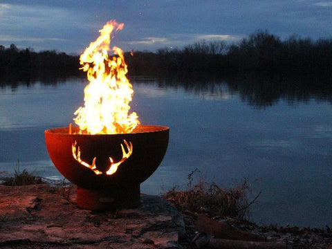 Fire Pit Art - Antlers