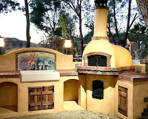 Belforno PIzza Oven Kit used to build an outdoor brick oven