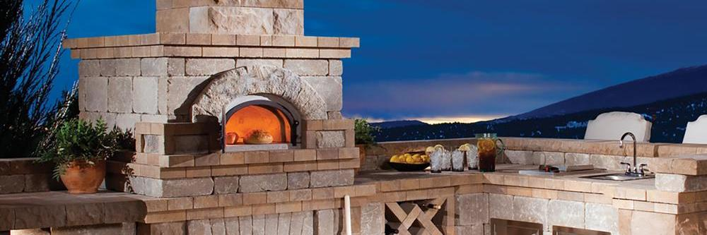 Chicago Brick Oven DIY Pizza Oven Kit in mountain backyard