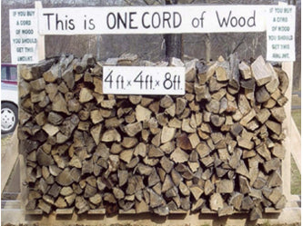 Measurement for a cord of wood