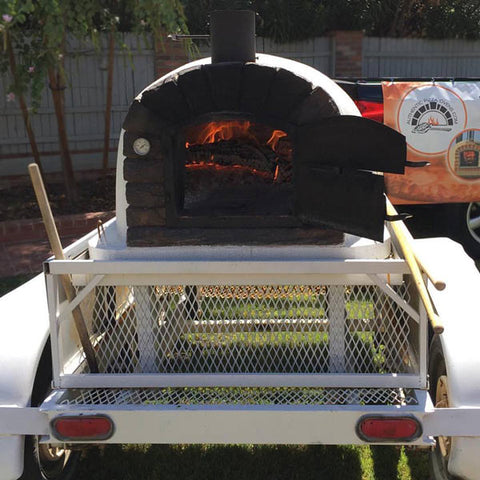 custom food truck brick oven