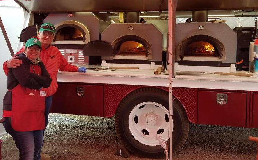 Gas pizza oven and wood pizza ovens installed on food truck