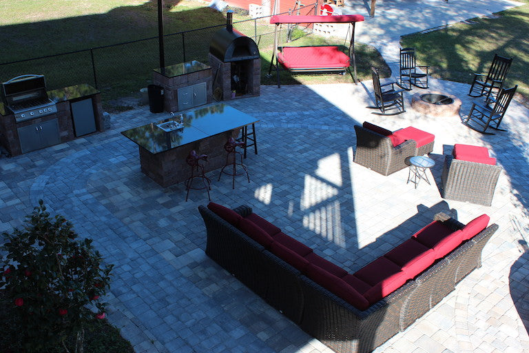 Outdoor Living Space with Necessories Kits