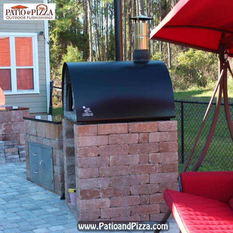 Pizza Oven Base made with Rockwood blocks